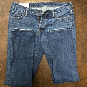 Men's Skinny Button-fly Jeans 34 x 32